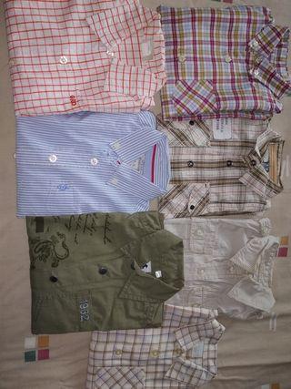 lote 7 camisas m/l 4 años
