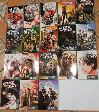 Attack on Titan 1-18 manga Ataque a los titanes