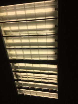 Pantallas luz techo desmontable