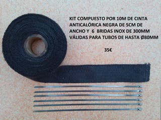 cinta anticalorica negra 10 metros