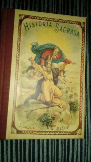 antiguo libro Historia Sagrada