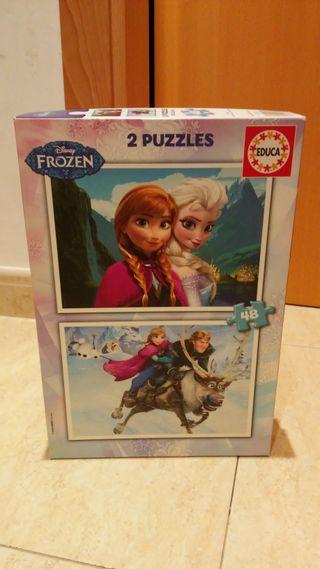 Juego puzzle Frozen (2 puzzles de 48 piezas)