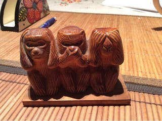 Monos japon en madera