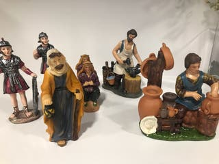 Figuras belen nacimiento navidad decoracion