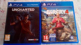 3 juegos ps4 uncharted farcry 4