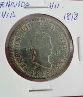 MONEDA 8 maravedis Fernando VII