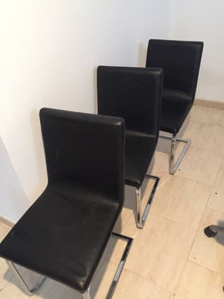 5 sillas piel despacho negocio hogar nuevas