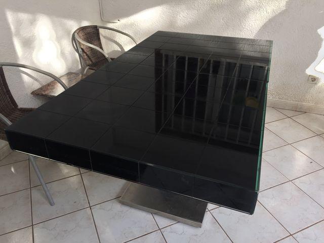 Mesa comedor extensible cristal diseño de segunda mano por 150 € en ...