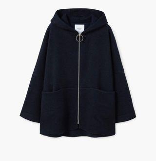 Abrigo mohair capucha
