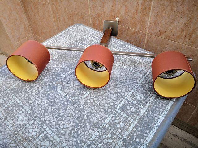 LAMPARA DE TECHO CON 3 PANTALLAS