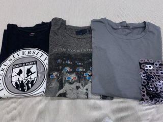 Lote 3 camisetas talla L 2 de ZARA y 1 de OPEN