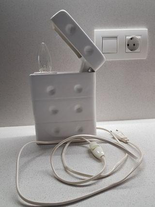 Original lámpara de porcelana