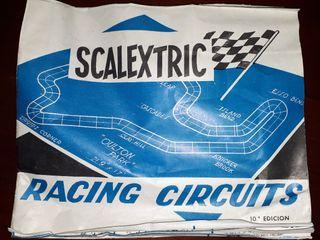 Catalogo antiguo Circuitos Scalextric
