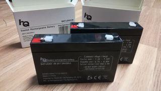 Baterías recargables 6V, 7,2 Ah