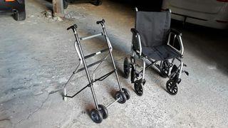 Andador y silla de ruedas