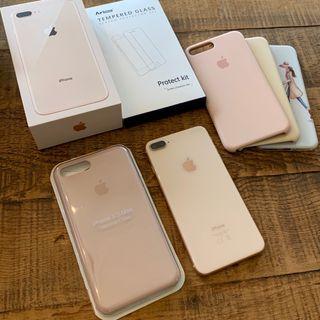 Iphone 8 plus 256 Gb rosa + accesorios