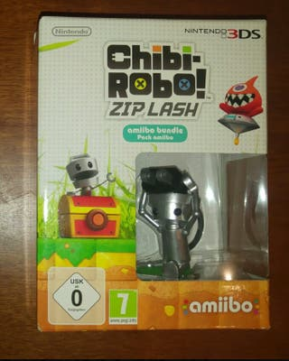 Chibi Robo Zip Lash + Figura Amiibo