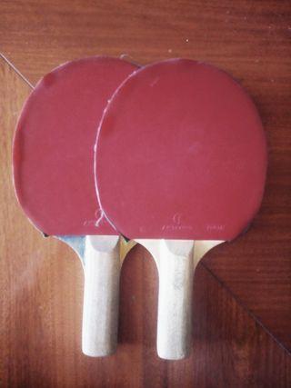 Palas Ping Pong + Funda + 4 pelotas