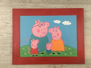 CUADRO INFANTIL PEPPA PIG Y FAMILIA