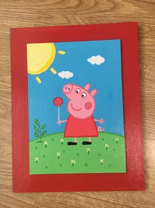 CUADRO INFANTIL PEPPA PIG ARTESANAL