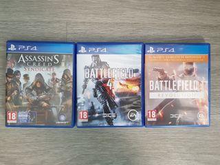 Battlefield 1,Battlefield 4 y Assassin Syndicate