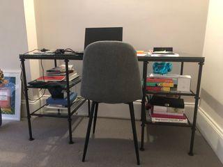 Glass studio table