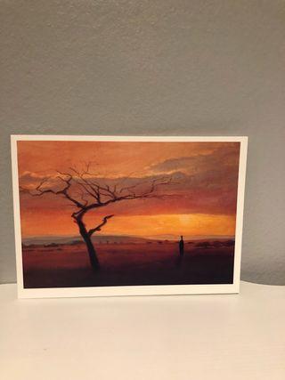 LÁMINA / POSTAL - AFRICAN SUNSET