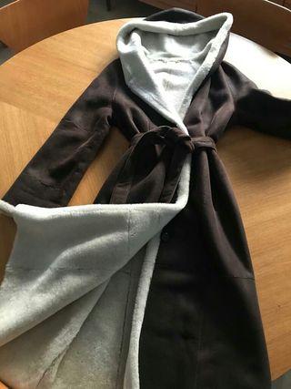 Abrigo de piel de cordero rasado