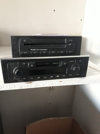 radio casette audi a4 original con cargador cd