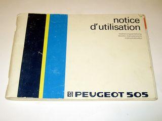 Manual de usuario Peugeot 505