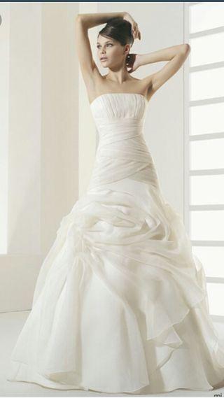 vestido de novia rosa clara de segunda mano en oviedo en wallapop