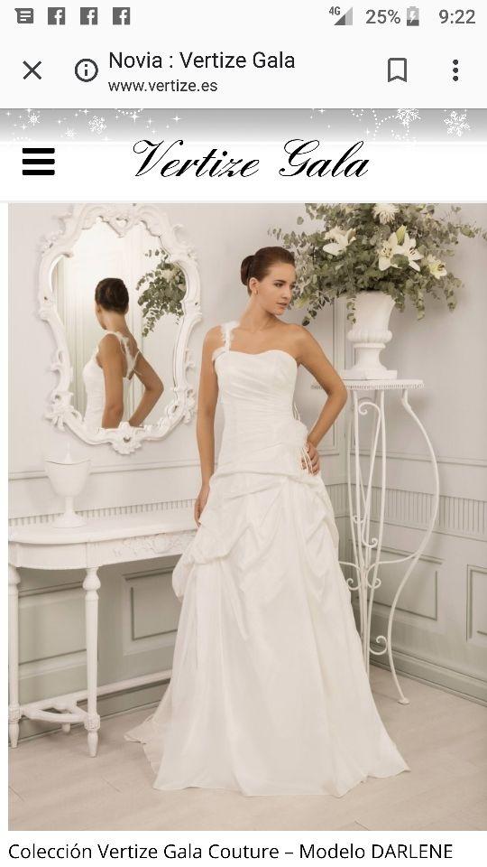 vestido novia talla 38 de segunda mano por 300 € en madrid en wallapop