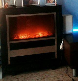 chimenea estufa de luz