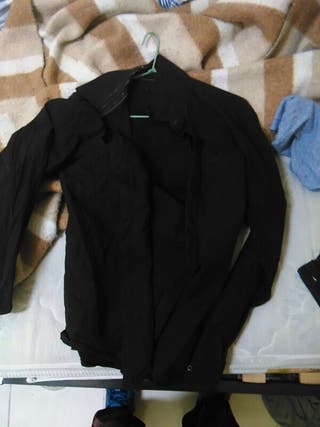 camisa negra jack jones