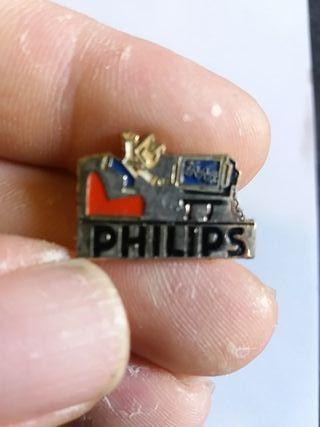 antiguo pin de philips y cobi de las olimpiadas