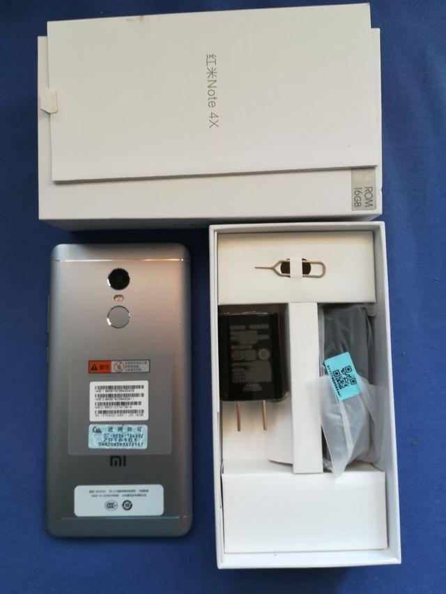 móvil nuevo Xiaomi note 4x negro plata