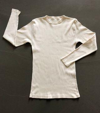 T shirt crème Manches longues col rond T. 36-38