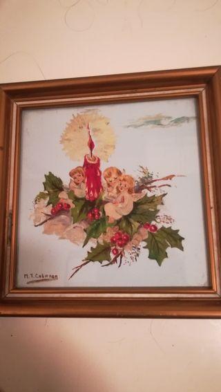 Antiguo azulejo navideño