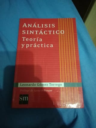 libro analisis sintactico lengua española