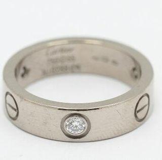 anillo cartier oro blanco y 3 diamantes