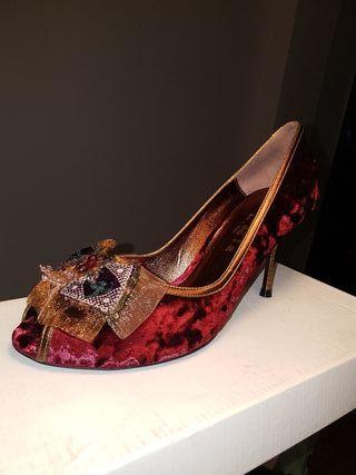 zapatos fiesta terciopelo italianos