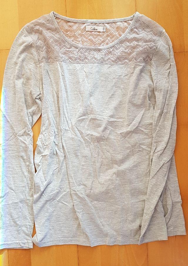 b83315367 Camiseta manga larga premama embarazo de segunda mano por 5 € en ...