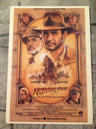 Postal Indiana Jones y la última cruzada