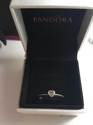 Pandora Pink Love Heart Ring