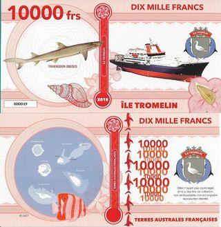 TROMELIN BILLETE 10000 FRANCS 2018 FANTASIA