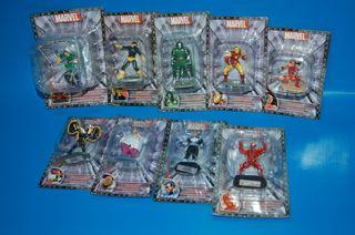 Lote de 9 Figuras Marvel de coleccion. de metal