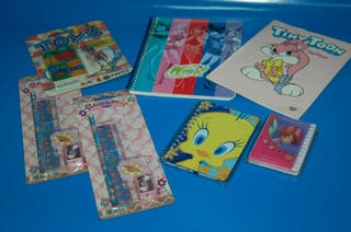 Lote de 2 cuadernos + Libreta + Agenda +Toy Puzzle