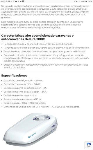 Aire Acondicionado Caravana Autocaravana NUEVO