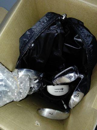 set palos de golf con bolsa tripode