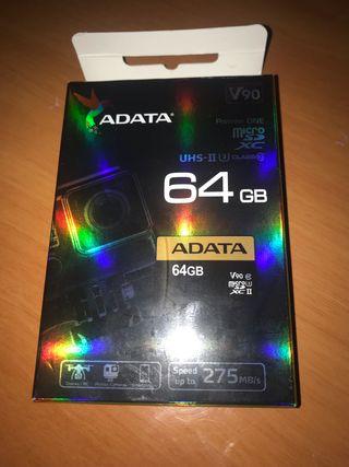 Tarjeta micro SD xc UHS II 64 gb